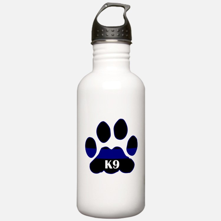 K9 Thin Blue Water Bottle