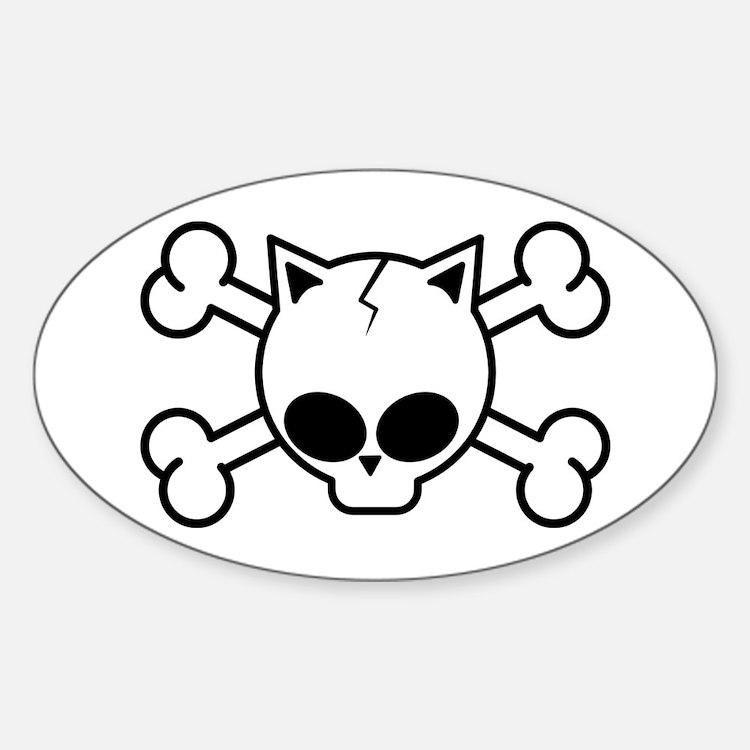 Cute Cross earings Sticker (Oval)