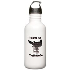 Traditional Taekwondo Tenets Water Bottle 1.0 Stai