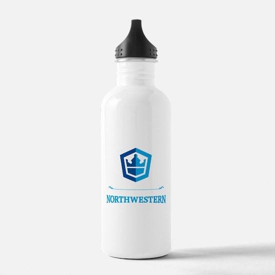 Cute Northwestern official crew Water Bottle