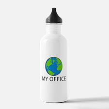 Funny World traveler Water Bottle