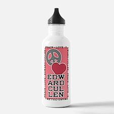 Peace Love Edward Cullen Water Bottle