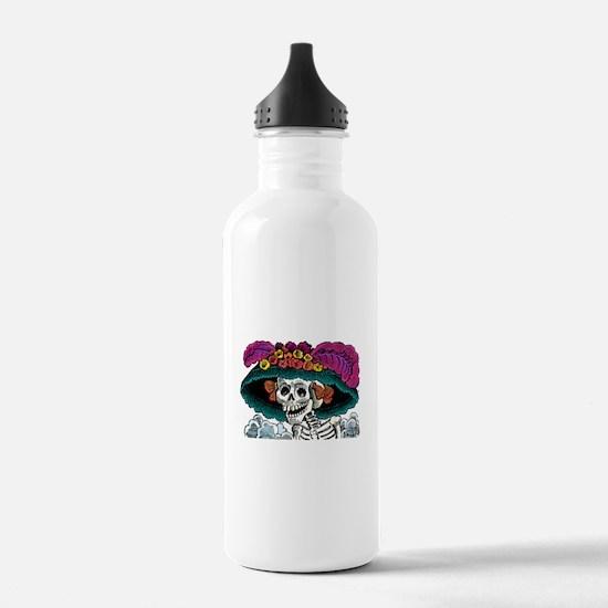Cute Dia de los muertes Water Bottle