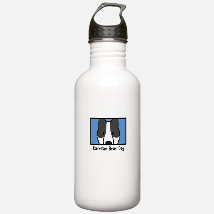 Anime Karelian Bear Dog Water Bottle