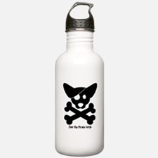 Pirate Corgi Skull Water Bottle