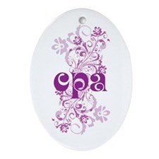 Cute CPA Accountant Ornament (Oval)