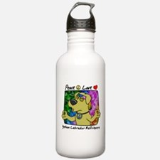 Peace Love Yellow Lab Water Bottle