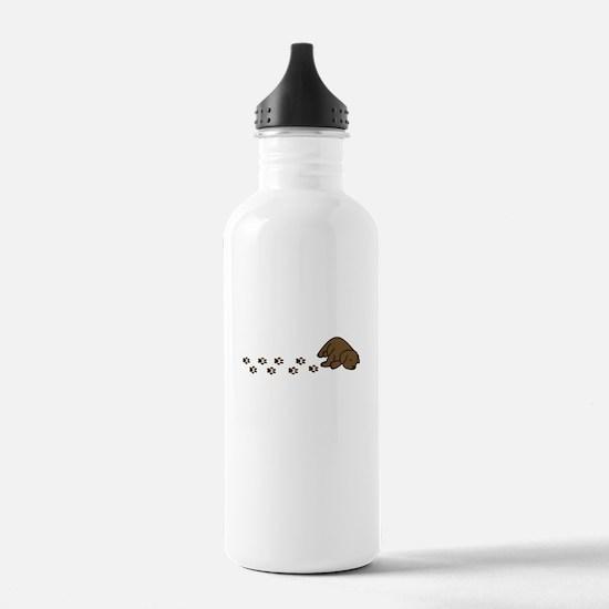 Muddy Chocolate Lab Water Bottle