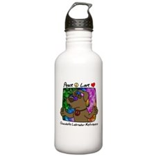 Peace Love Chocolate Lab Water Bottle