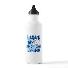 I Love my American Eskimo Sports Water Bottle
