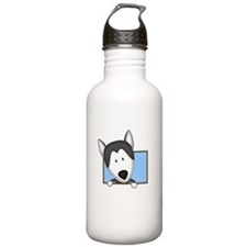 Cartoon Siberian Husky Water Bottle