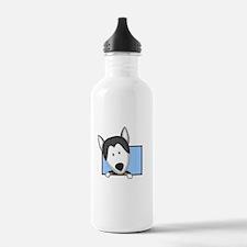 Cartoon Siberian Husky Water Bottle