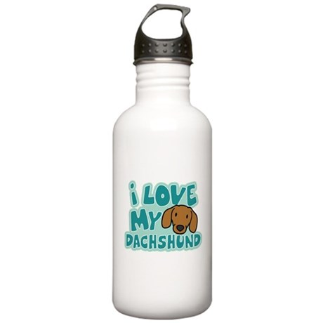 I Love my Dachshund Stainless Water Bottle 1.0L