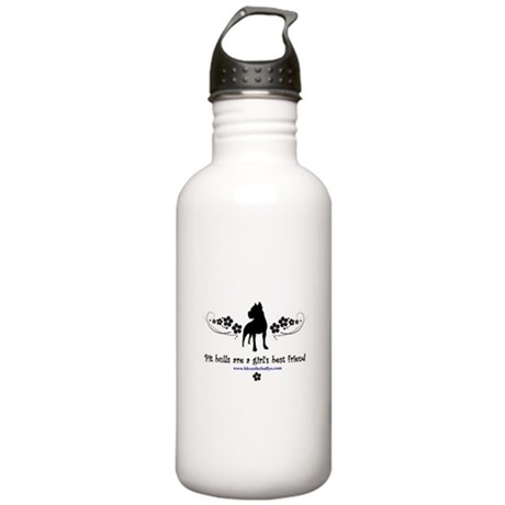 Pit Bulls are a Girl's Best F Water Bottle 1. Stai