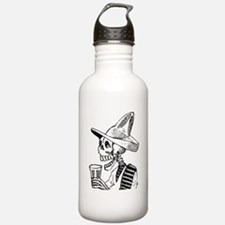 Calavera con Cerveza Water Bottle