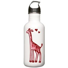 Lovestruck Giraffe Sports Water Bottle