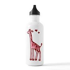 Lovestruck Giraffe Water Bottle