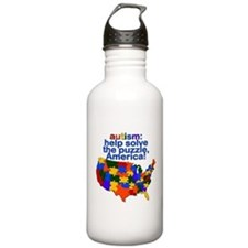 Autism USA Water Bottle