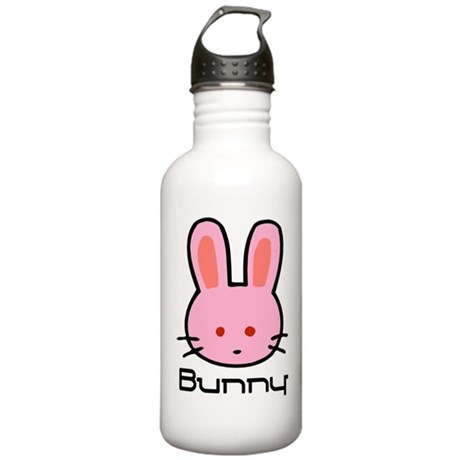 Pink Bunny Rabbit Stainless Water Bottle 1.0L