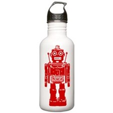 Red Robot Water Bottle
