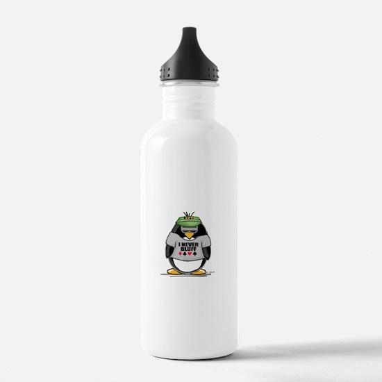 Poker Penguin Water Bottle