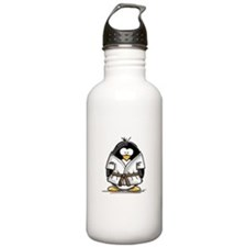 Martial Arts brown belt pengu Water Bottle 1. Stai