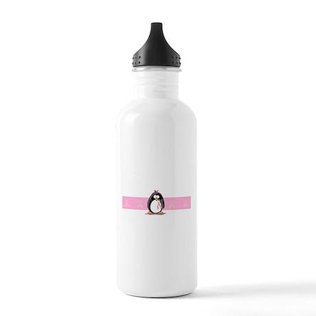 Pink Ribbon Penguin Stainless Water Bottle 1.0L