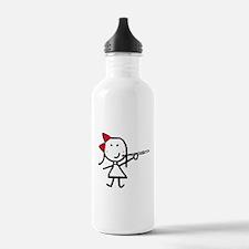 Girl & Flute Water Bottle