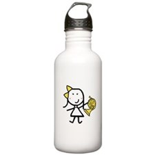 Girl & French Horn Water Bottle
