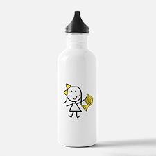 Girl & French Horn Water Bottle