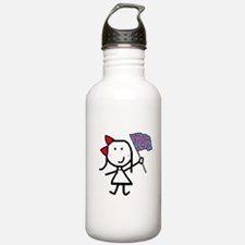 Girl & Color Guard Water Bottle
