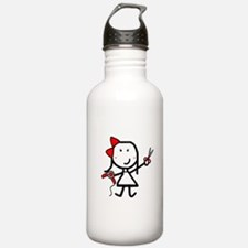 Girl & Hair Dryer Water Bottle