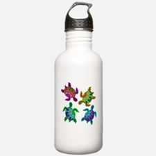 Multi Painted Turtles Water Bottle