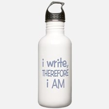 I Write, Therefore.... Water Bottle