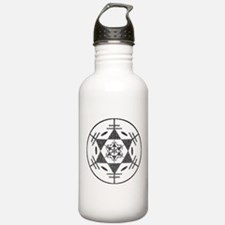 Disc Golf Sketch Charcoal ori Water Bottle 1. Stai