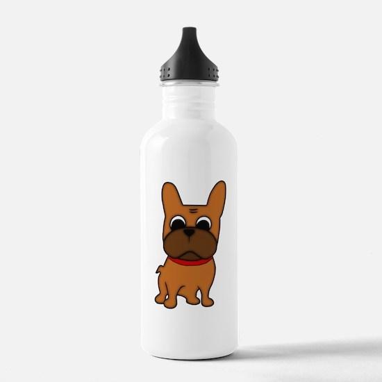 Cute Brindle french bulldog Water Bottle