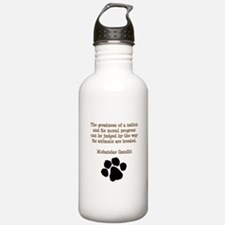Gandhi Animal Quote Water Bottle