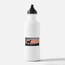 Redbone Coonhound Sunset Water Bottle