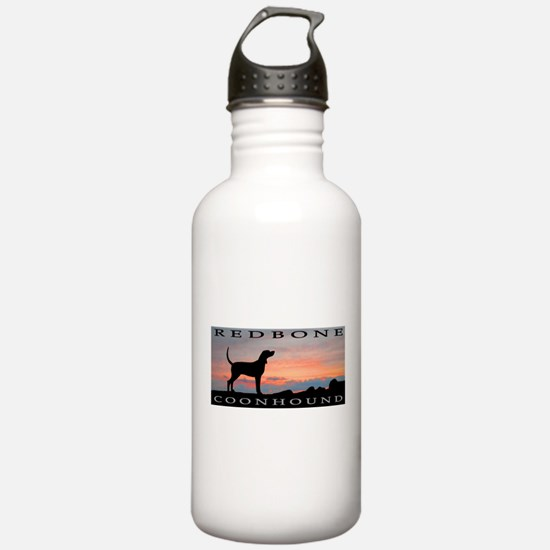 Redbone Coonhound Sunset Water Bottle