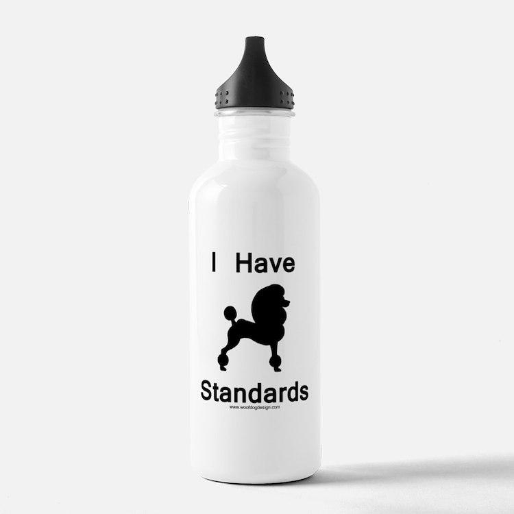 Poodle - I Have Standards Water Bottle