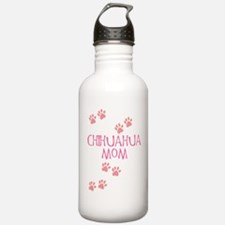 Pink Chihuahua Mom Water Bottle
