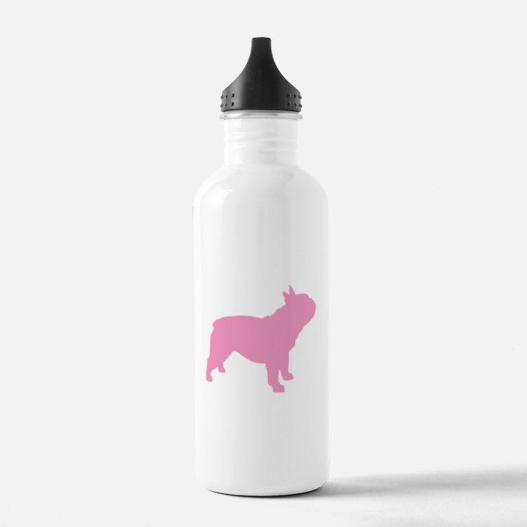 Pink French Bulldog Water Bottle