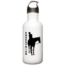 Equestrian One w/ Text Water Bottle