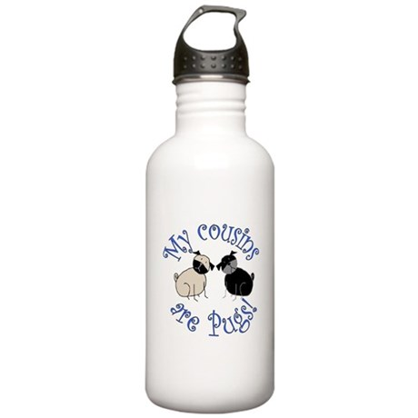 Pug Cousins Stainless Water Bottle 1.0L