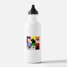 Rainbow Pugs Logo Water Bottle