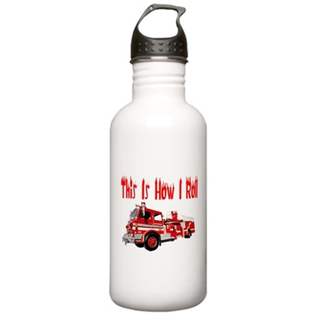 How I Roll- Fire Truck Stainless Water Bottle 1.0L