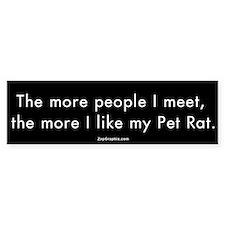 More People/Pet Rat Bumper Car Sticker