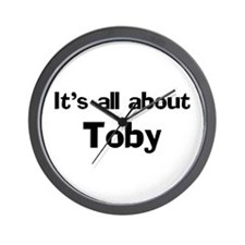 It's all about Toby Wall Clock