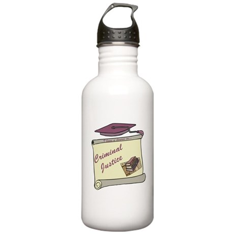 Criminal Justice Degree Stainless Water Bottle 1.0