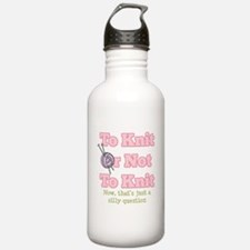 To Knit Or Not To Knit Water Bottle